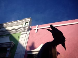 A sculpture by Carrington on a street in Campeche, Mexico.