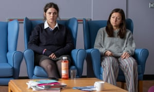 Sectioned … In My Skin, with Gabrielle Creevy as Bethan, left, and Jo Hartley as Trina.