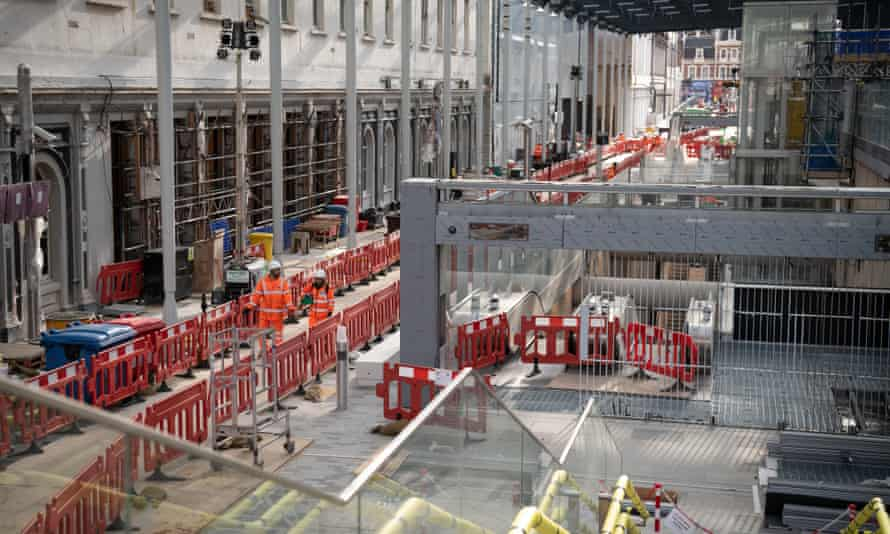 Crossrail workers in February