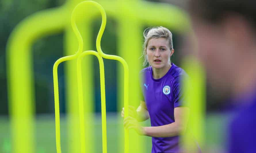 Manchester City's Ellen White in action during pre-season training.