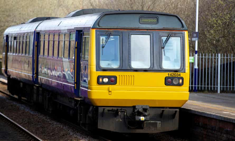 Northern Rail Pacer train at Irlam station