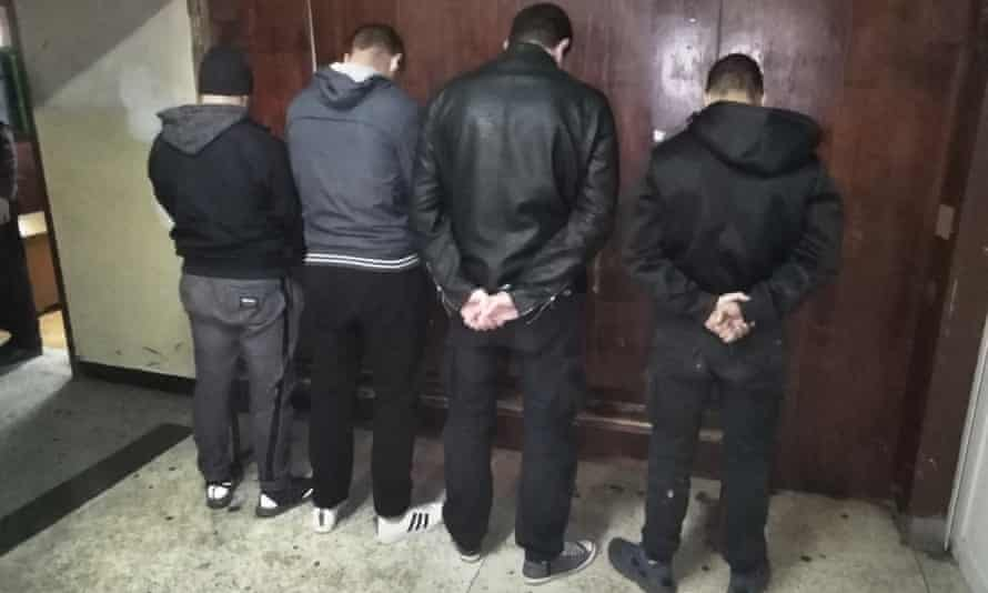 Four men arrested by Bulgarian police after the game.
