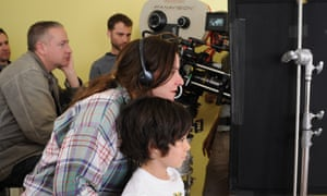 Glasgow-born Lynne Ramsay on set of We Need to Talk about Kevin, which she directed in 2011