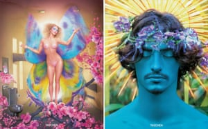 The covers of LaChapelle's new books, Lost + Found Part I and Good News Part II.