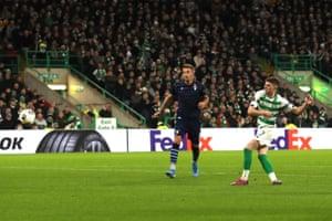 Ryan Christie of Celtic scores the equaliser.