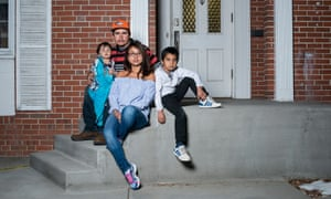 Ingrid Latorre, from Peru, pictured with her partner Eliseo Jurado and her children Bryant and Annibal, is taking sanctuary in a Quaker meeting house to avoid deportation.