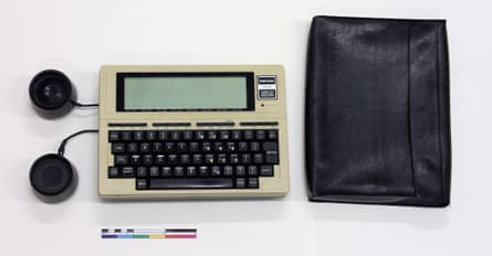 Text favorite ... Tandy TRS-80 model 100,