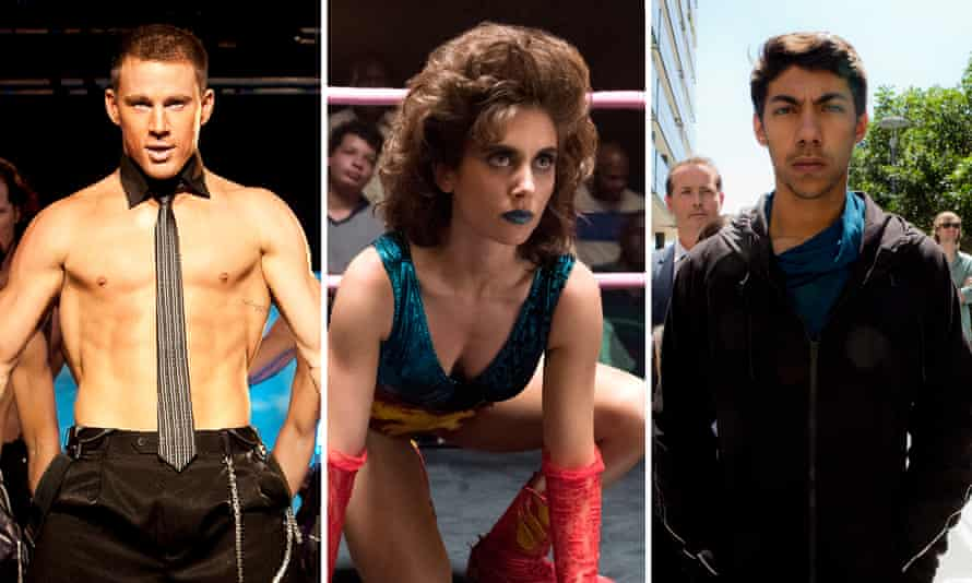 Channing Tatum in Magic Mike, Alison Brie in Glow, and Hunter Page-Lochard in Cleverman