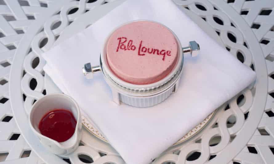 Polo Lounge at The Dorchester, Park Lane, London, for Jay Rayner's restaurant review, OM, 29/07/2021. Sophia Evans for The Observer Strawberry souffle