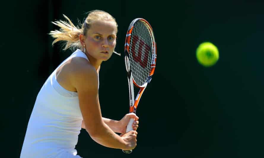 Jelena Dokic at Wimbledon in 2009.