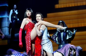 Kay Murphy as Mrs Potiphar and former Boyzone member Stephen Gately at the New London theatre in 2003