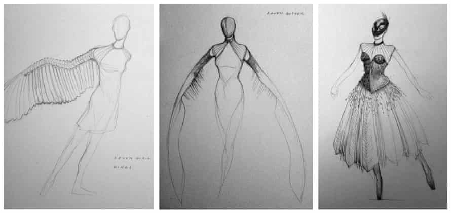 Costume designs for The Raven