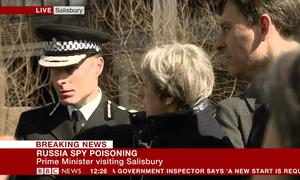 Theresa May in Salisbury