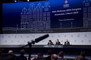 Some thrilling Uefa Congress action, earlier.