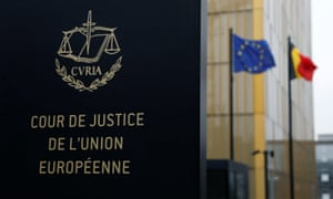 The entrance of the European court of justice in Luxembourg