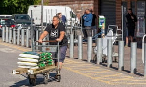 Shoppers at DIY supplier