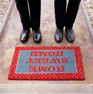 Doormat and feet
