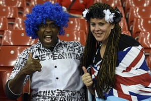 These Fiji fans are enjoying themselves