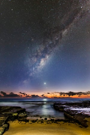 Venus Rising Ivan Slade (Australia) During the seldom-seen alignment of the five planets in February 2016, Venus, Mercury and the Milky Way rose an hour before sunrise, and appear to be fleeing its early glow, overlooking Turrimeta Beach, Australia.