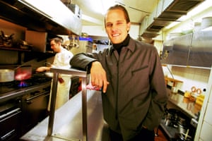 Mikkel Beck in the kitchen of his restaurant, Lundum's, back in 2000.