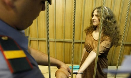 Maria Alekhina of Pussy Riot during her trial in 2012