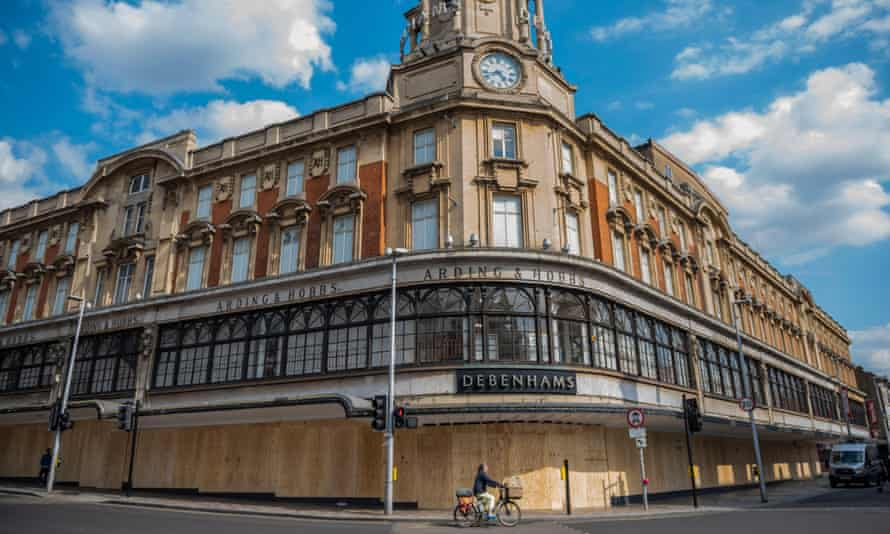 The Debenhams store in Clapham Junction, south London, is boarded up in June.