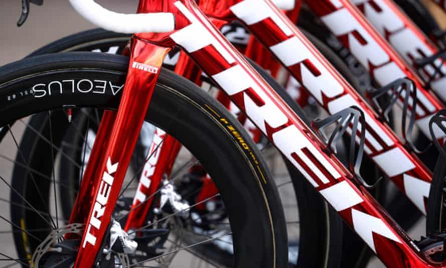 Team Trek-Segafredo bikes at the Tour de France this year