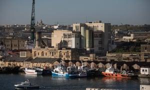 Marsa Docks in Valletta.