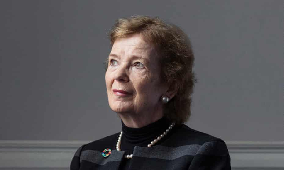 Mary Robinson in her office in Dublin
