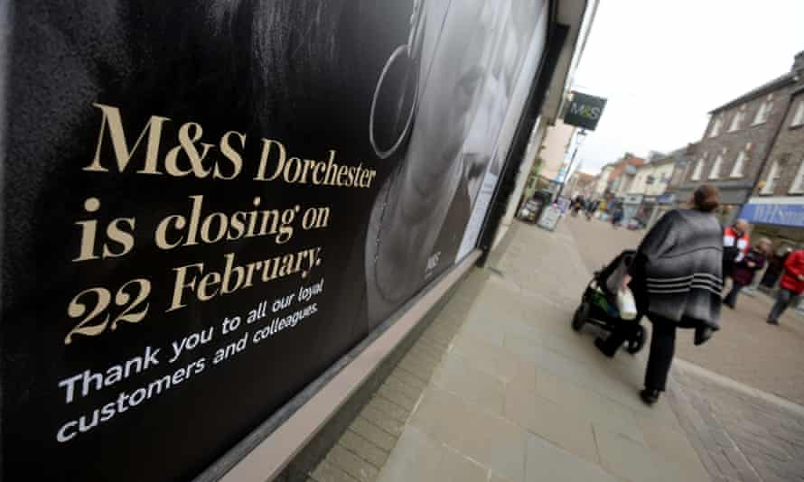 the closed M&S store in Dorchester