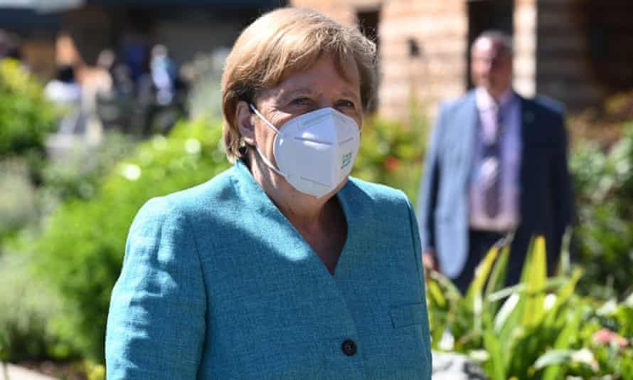 Angela Merkel beim G7-Gipfel in Cornwall.