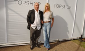 Kate Moss with Philip Green ahead of a Topshop launch.