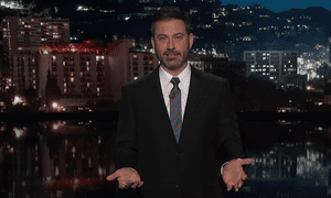 Jimmy Kimmel: Instead of delivering a State of the Union on Tuesday, Trump will 'have the night free to eat cheeseburgers and watch an all-new episode of Lindsay Lohan's Beach Club'.