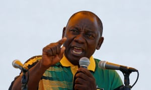 ANC leader and South Africa's deputy president Cyril Ramaphosa