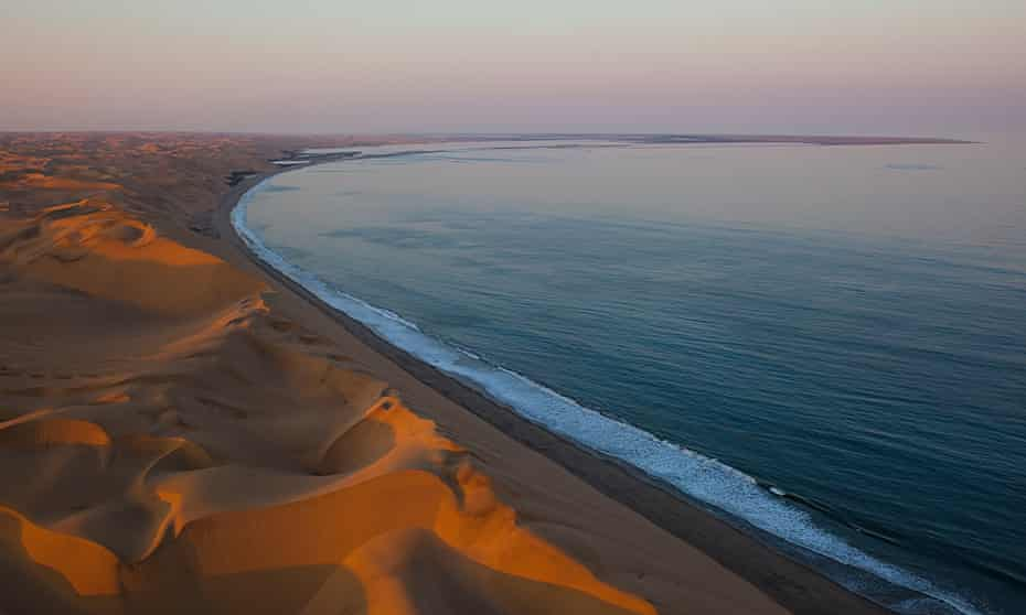 The red sand of the Skeleton Coast.
