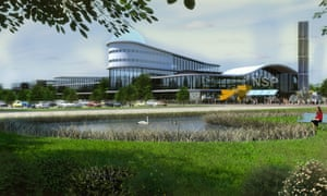 An artist's impression of how the flagship building of the National Space Park might look.