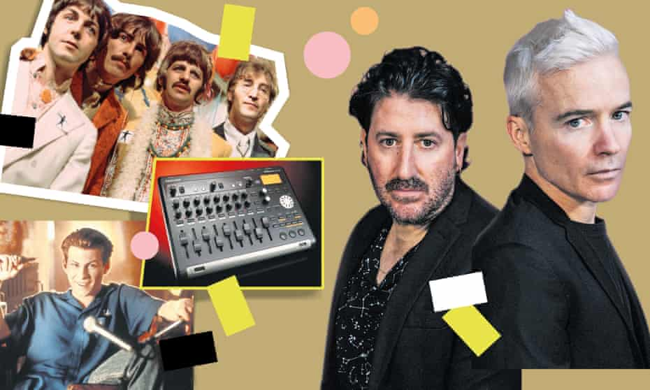 Clockwise from top left: the Beatles, Tony Di Blasi, Robbie Chater, a Tascam Portastudio and Christian Slater.