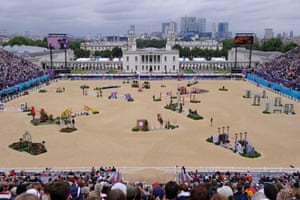 Greenwich Park during the equestrian competition at the 2012 London Olympics.