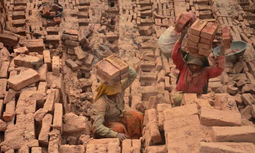 A brick kiln in Dimapur, India, March 2021.