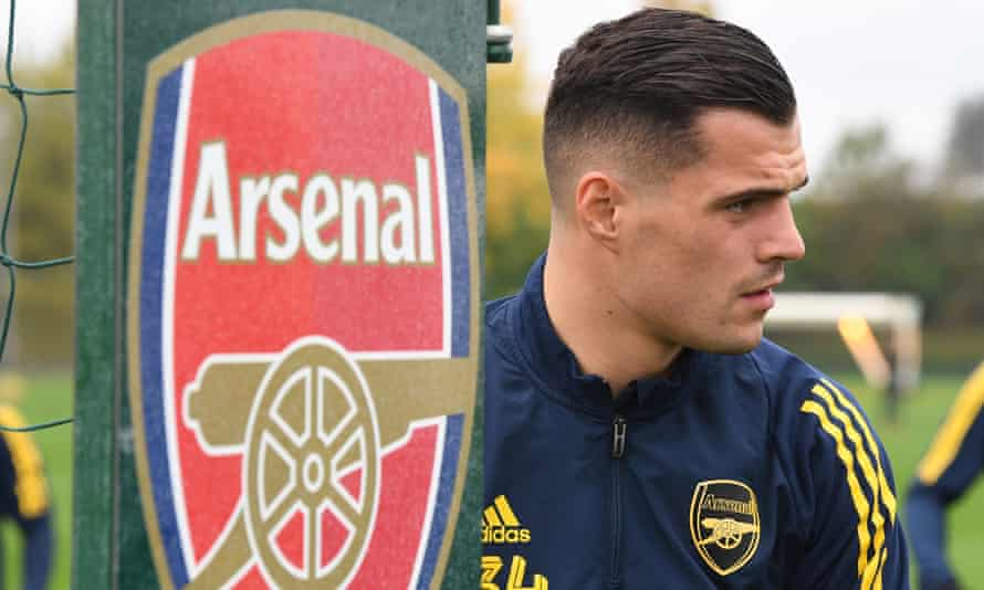 Granit Xhaka has been training well with Arsenal, says Unai Emery, but the former captain has not played since storming off against Crystal Palace on 27 October.