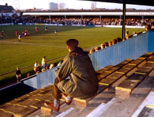 #51The Lone Huddersfield Town SupporterHuddersfield Town at Southend UnitedRoots Hall1991