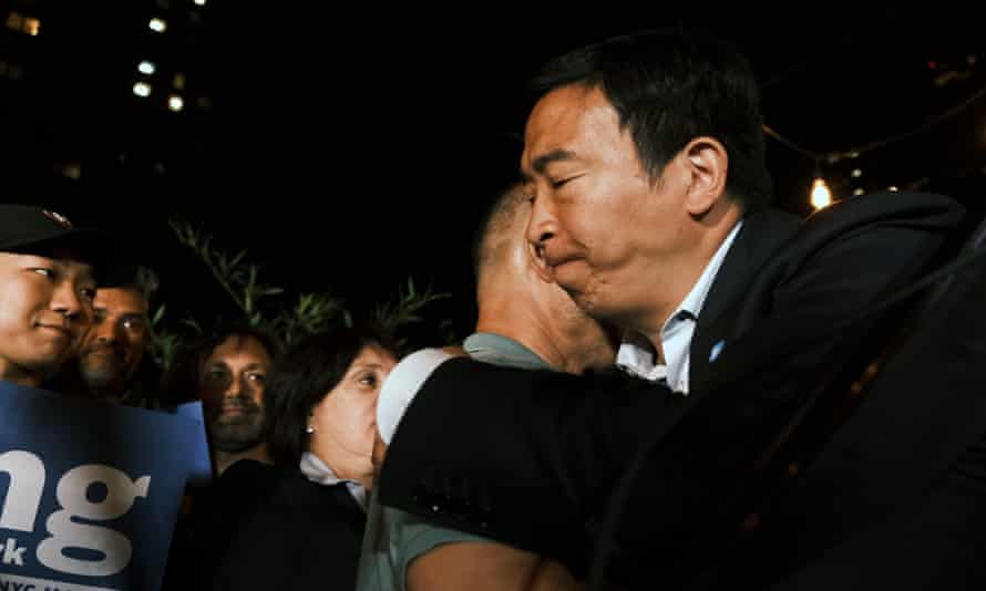 Yang concedes on Tuesday night. He said: 'I am not going to be the mayor of New York City based upon the numbers that have come in tonight.'