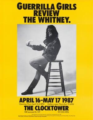 Guerrilla Girls (est. 1985), Guerrilla Girls Review the Whitney, 1987