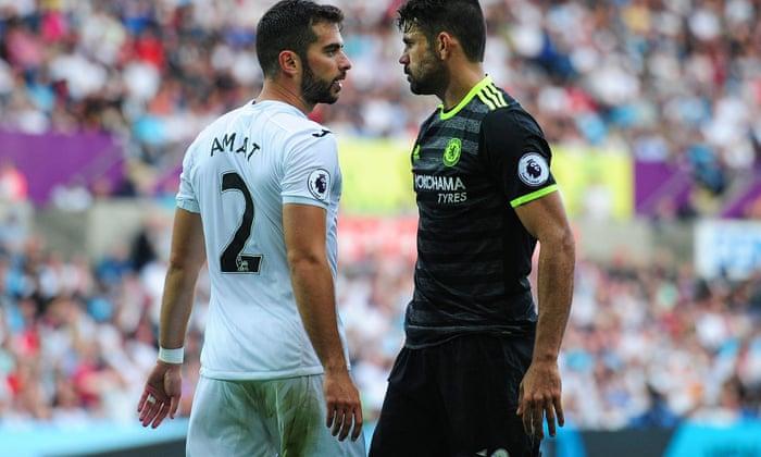 Chelsean Antonio Conte syyttää puolustajia kohdentamalla Diego Costa