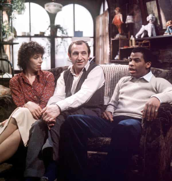 Rising Damp: Frances de la Tour, Leonard Rossiter and Don Warrington in the much-loved sitcom, 1978.
