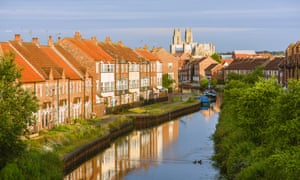 The minster, town houses, and the beck, Beverley.