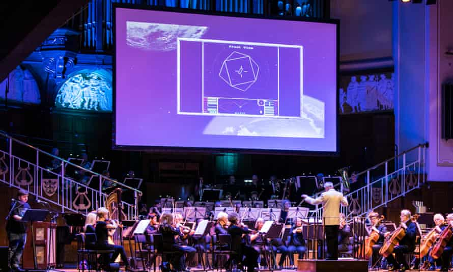Conductor Robin Tait leads the Hull Philharmonic Orchestra at the 8 Bit Symphony concert.