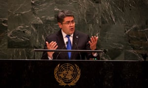 The Honduran president, Juan Orlando Hernández, has been labeled a co-conspirator, though he has not been charged.