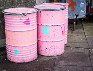 Three Pink Barrels, by Nii Kojo Bortey