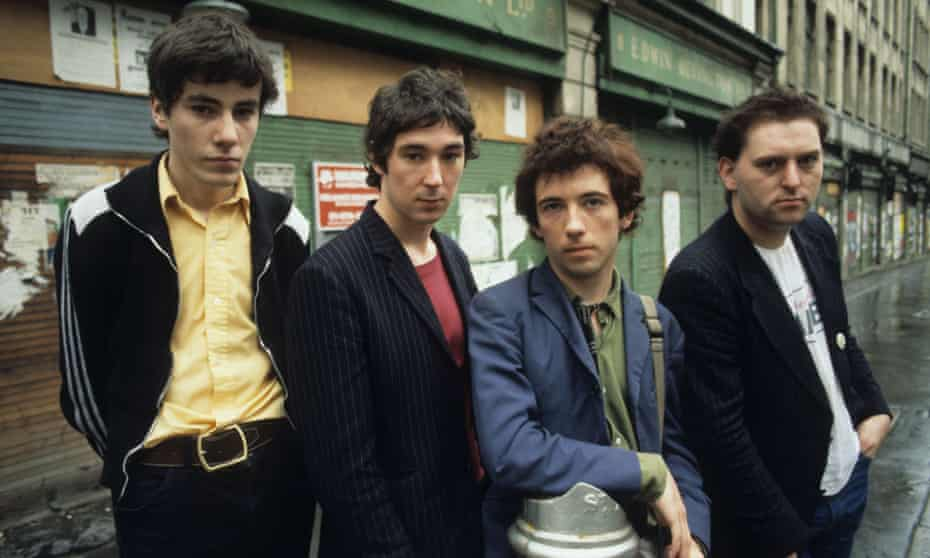 (L-R) John Maher, Steve Diggle, Pete Shelley and Garth Smith ... Buzzcocks in October 1977.
